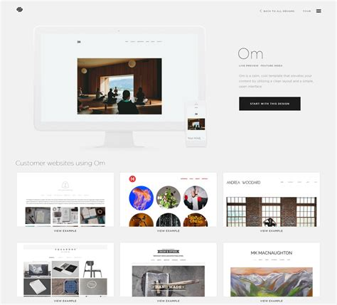 squarespace custom template gallery templates design ideas