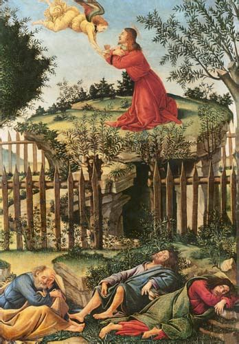 The Agony In The Garden by The Agony In The Garden Sandro Botticelli As Print Or Painted