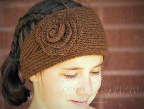 knit ear warmer pattern free knit ear warmer pattern with flower crochet ashlee
