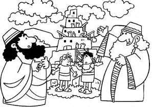 tower of babel coloring page tower of babel coloring pages