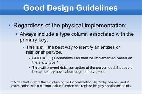 design guidelines database hierarchical data models in relational databases