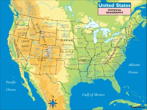 physical features of the united states map maps101 united states physical geography
