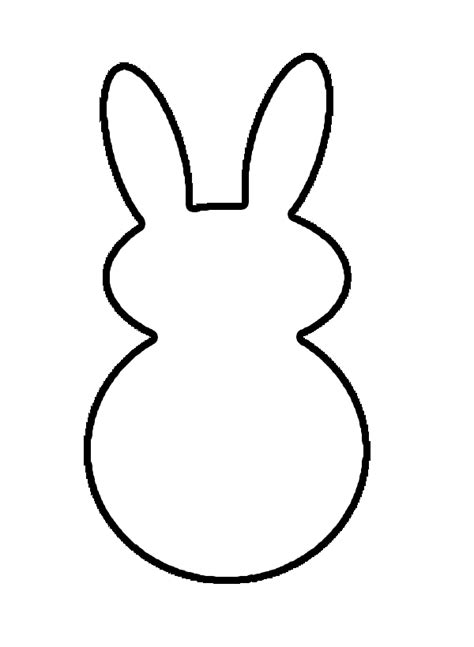 simple rabbit coloring page bunny outline cliparts co