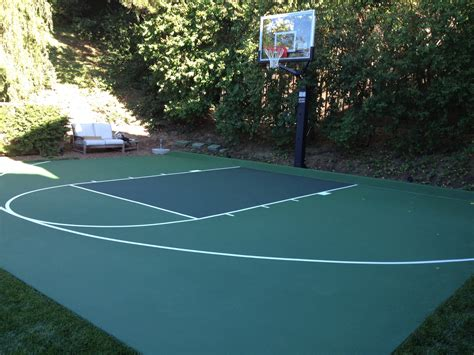 backyard basketball court tiles outdoor basketball court flooring cost gurus floor