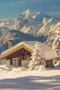 winter cabin snow