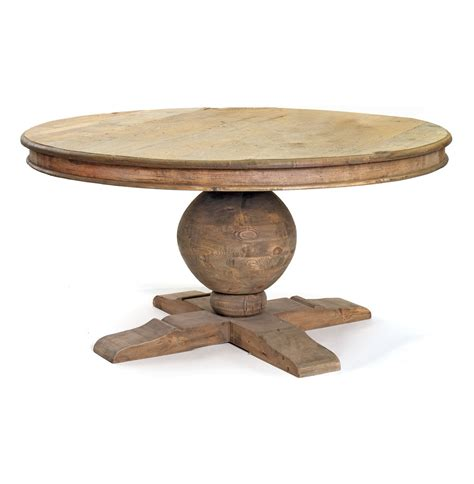 Antique Old And Vintage Round Outdoor Pedestal Dining