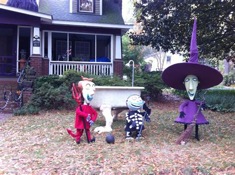 nightmare before christmas christmas out door decoration nightmare before decoration boogies boys lock shock and barrel build a haunt