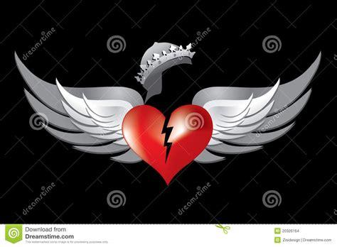 imagenes corazon rockero alas rojas 1 del coraz 243 n quebrado de la corona real