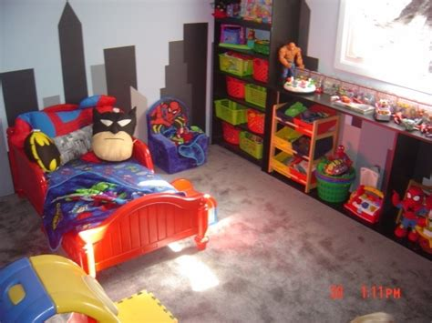 toddler superhero bedroom super hero room wall treatment cute kids stuff pinterest