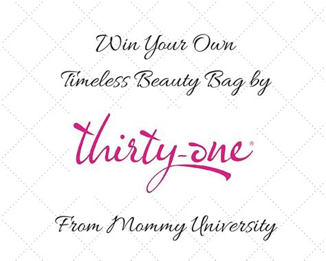Thirty One Giveaway - win a thirty one timeless beauty bag full of goodies mommy university