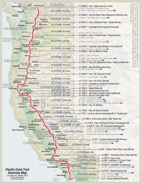 pct oregon map pacific crest trail map southern oregon