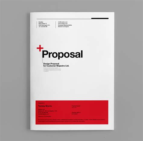 Machine Design Proposal | proposal template suisse design with invoice on behance