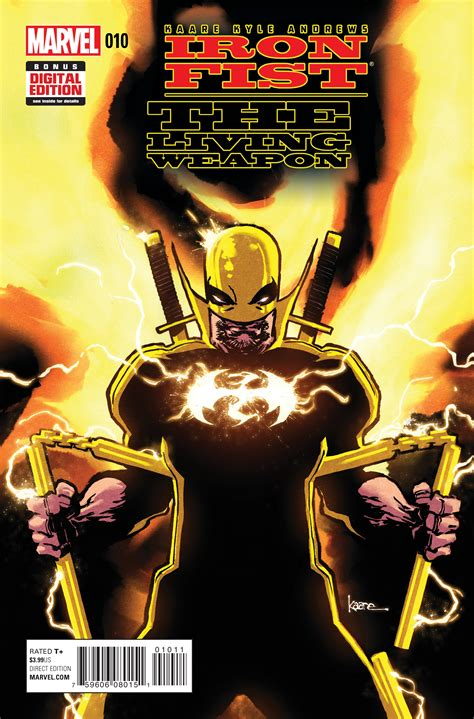 libro iron fist the living preview iron fist living weapon 10 comic vine