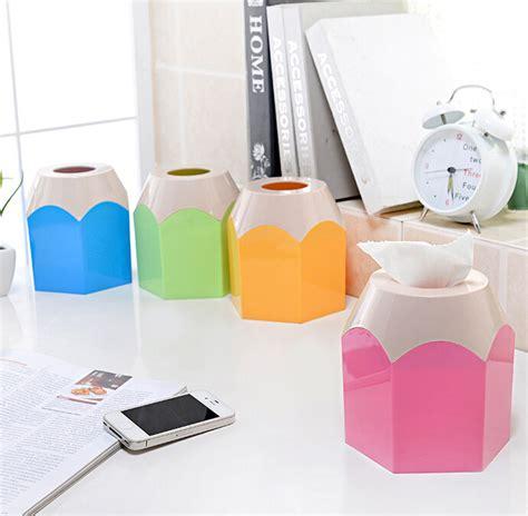 Desktop Tissue Box creative colorful pencil design tissue holder pumping