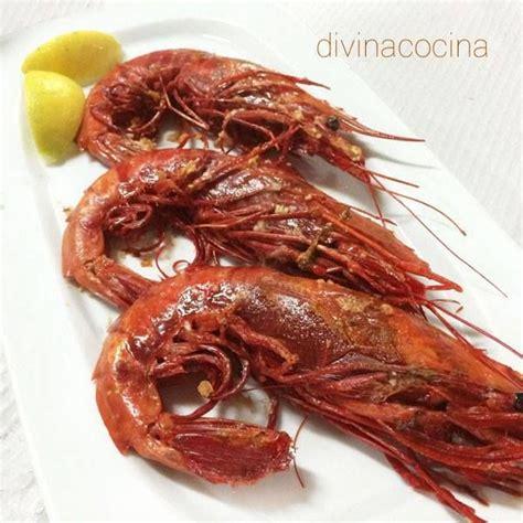 divina cocina recetas receta de carabineros a la plancha pescados y mariscos