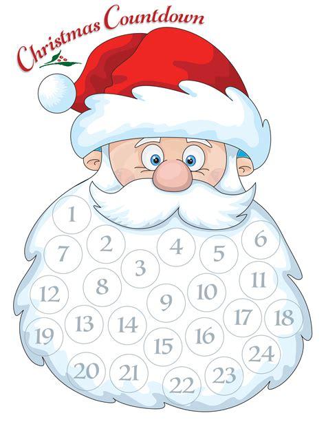 printable advent calendar santa santa advent calendar free printable