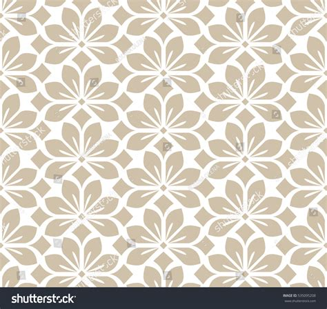 pattern background beige seamless abstract floral pattern beige white stock vector