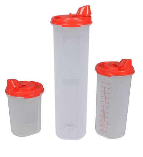 Red Kitchen Canisters Buy Tupperware Magic Easy Flow Red Plastic Oil Dispenser