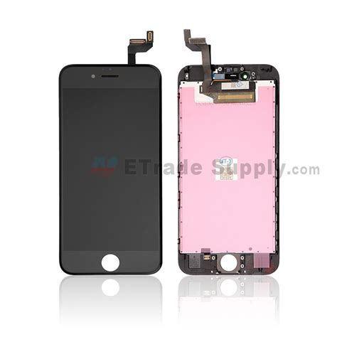 apple iphone 6s lcd screen and digitizer assembly with frame black etrade supply
