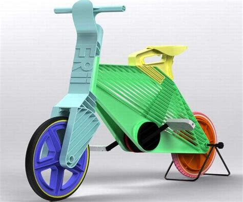 The Bike Station Recycled Cycles by Colorfully Recycled Cycles Frii Plastic Bike