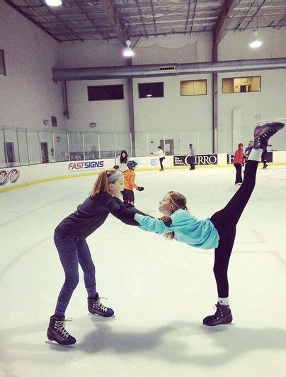 cute ice skating friends photo idea ice skating