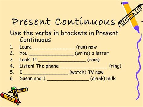 Simple Present Tense Exles Ejercicios De Presente Continuo Present Continuous Tense