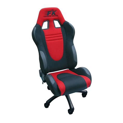FK Automotive Racecar Black/Red Racing Office Chair   GSM