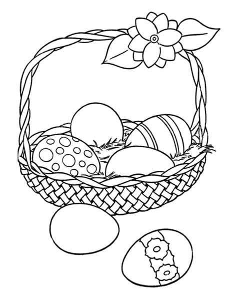easter coloring pages for 10 year olds printable easter egg basket coloring page