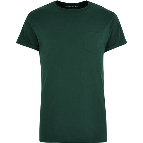 T Shirt Green river island green chest pocket t shirt in green for