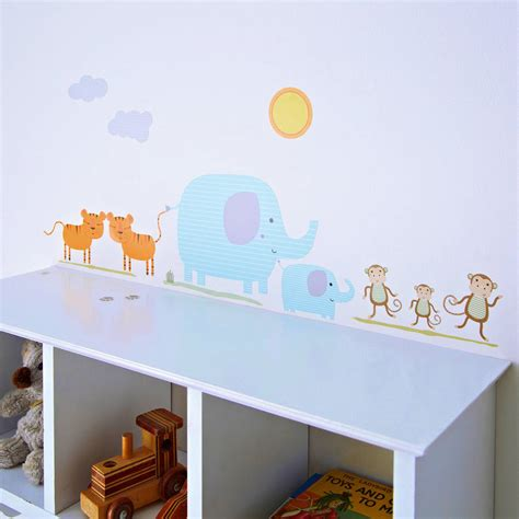 kidscapes wall stickers childrens safari wall stickers by kidscapes