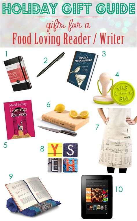 holiday gift guide gifts for food loving reader writer