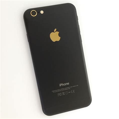 Black Mate Iphone Ip 6 apple iphone 6 matte stealth black 128gb gold logo gsm
