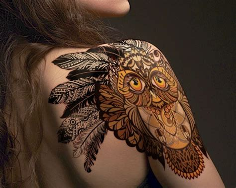 owl shoulder tattoo 15 tribal shoulder designs that will completely