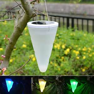solar outdoor hanging lights outdoor led solar cone shaped hanging taper balcony garden