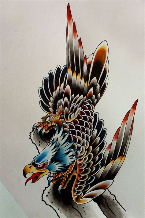 eagle dragon traditional tattoo sheet ideas tattoo