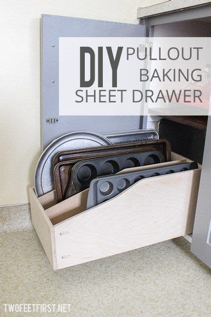 Cookie Sheet Drawer by Diy Pullout Baking Sheet Drawer New Decorating Ideas