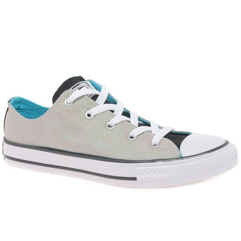 converse all oxford lace junior canvas shoes