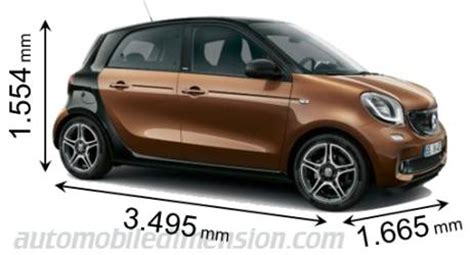 what is the length of a smart car smart forfour grandezza