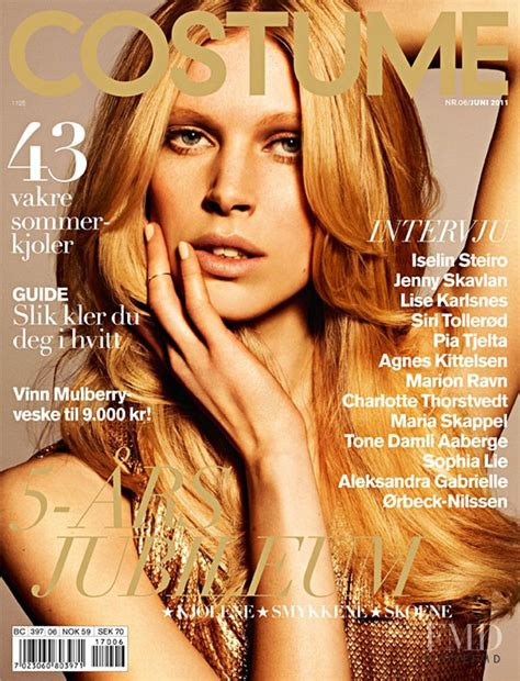 site models june 2011 cover of costume norway with iselin steiro june 2011 id