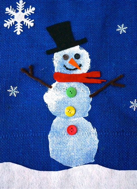 snowman craft for that artist how to make a snowman banner