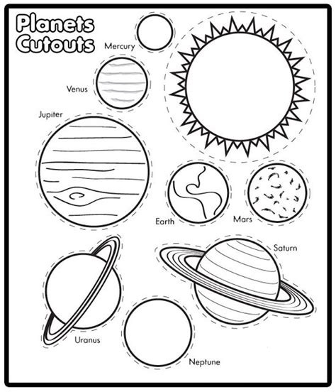 Solar System Printable Coloring Pages printable solar system coloring book pics about space