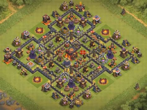 best th9 hybrid base 2016 th9 trophy base no xbows www pixshark com images