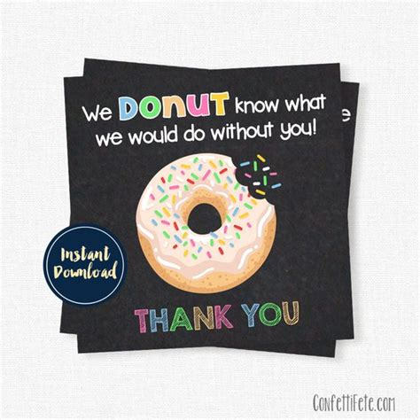 free thank you card templates donut donut thank you tags gift tags donut what