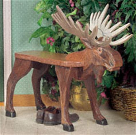 bench patterns furniture moose bench woodcraft pattern