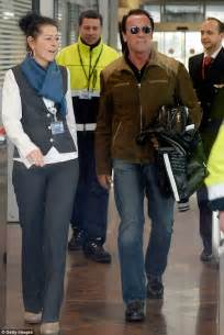 Rugged Winter Boots Arnold Schwarzenegger Takes Girlfriend Heather Milligan To