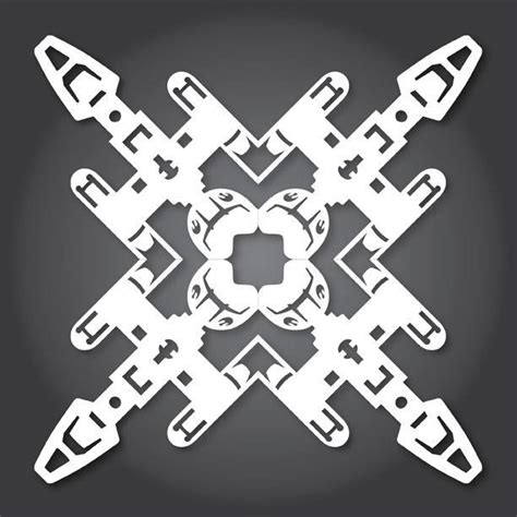 wars snowflake templates free 60 free paper snowflake templates wars style