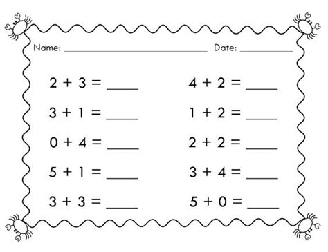 simple math worksheets for kindergarten worksheets for all