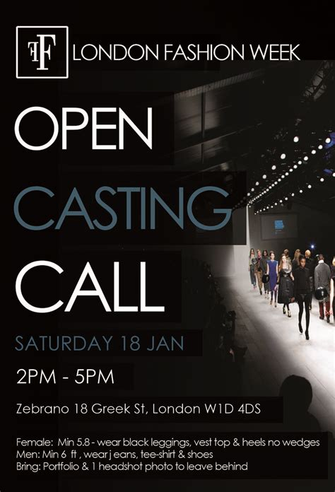 template flyer model casting call opportunity for male and female models to