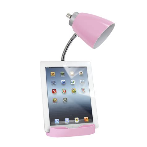 Bookbank Organizer For Tablet Pink limelights gooseneck organizer desk l with tablet stand book holder and charging outlet