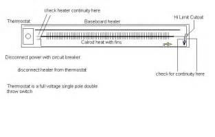 wiring a 240 volt baseboard heater thermostat wiring